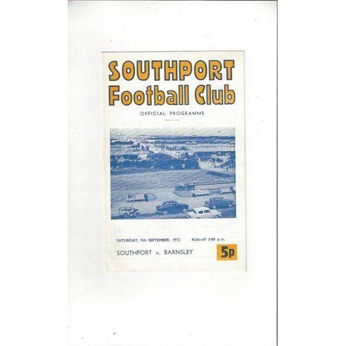 1972/73 Southport v Barnsley Football Programme