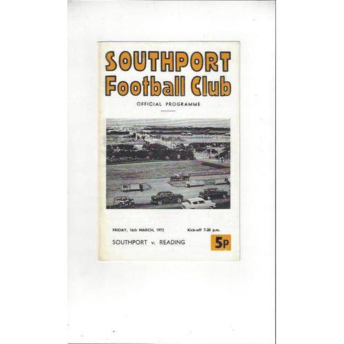 1972/73 Southport v Reading Football Programme