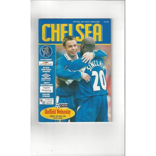 Chelsea v Sheffield Wednesday 1997/98