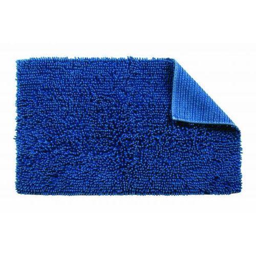 Blue Cotton Bathroom Mat