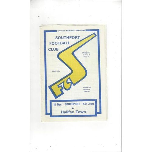 Halifax Town Away Football Programmes