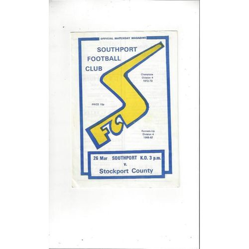 Stockport County Away Football Programmes