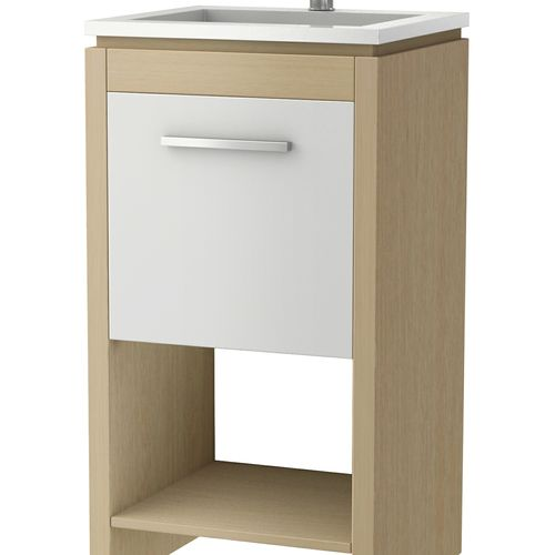 Bowmont Light Wood Vanity Unit