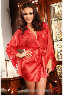 Prilance Dressing Gown Red