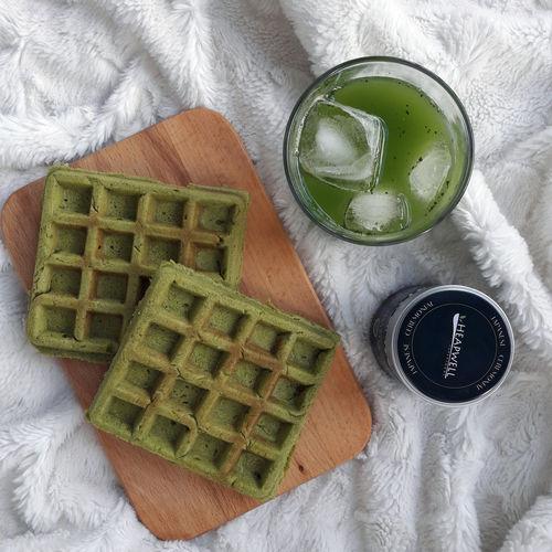 Matcha Breakfast Waffles