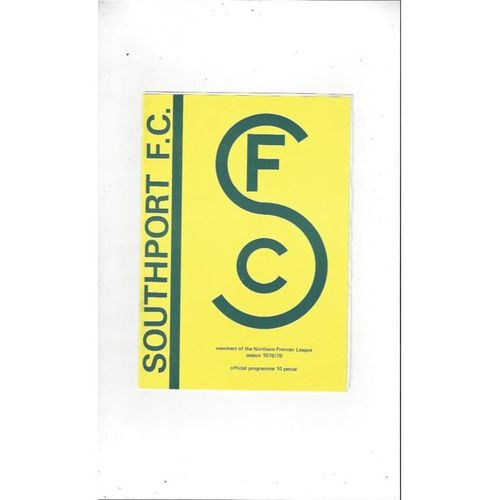 1978/79 Southport v Frickley Athletic Football Programme