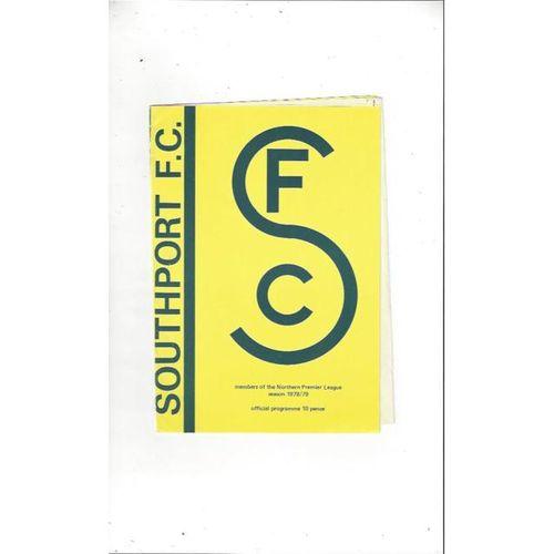 1978/79 Southport v Matlock Town Football Programme