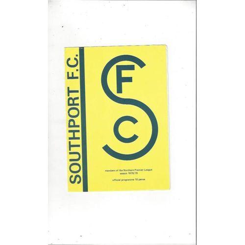 1978/79 Southport v Netherfield Football Programme