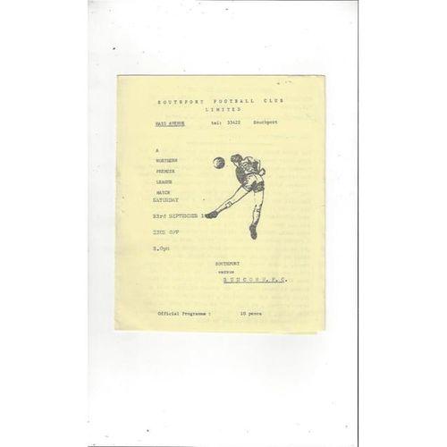 1978/79 Southport v Runcorn Football Programme