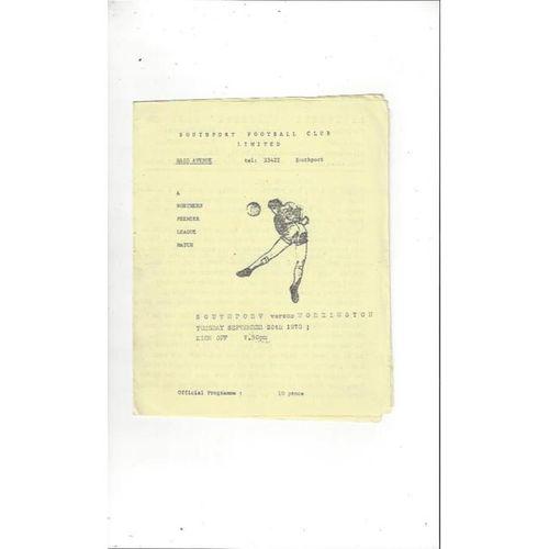 1978/79 Southport v Workington Football Programme