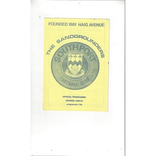 1980/81 Southport v Marine Football Programme