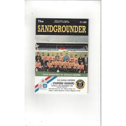 Non-League 1970's to Date Football Programmes