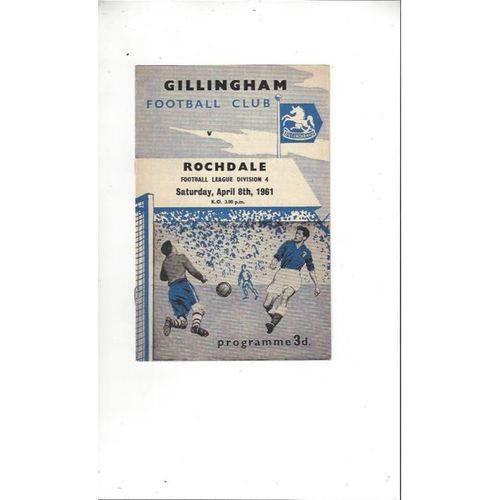1960/61 Gillingham v Rochdale Football Programme