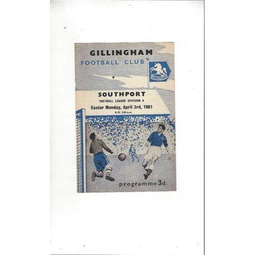 1960/61 Gillingham v Southport Football Programme