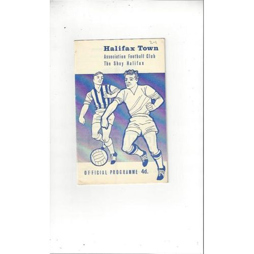 1964/65 Halifax Town v Southport Football Programme