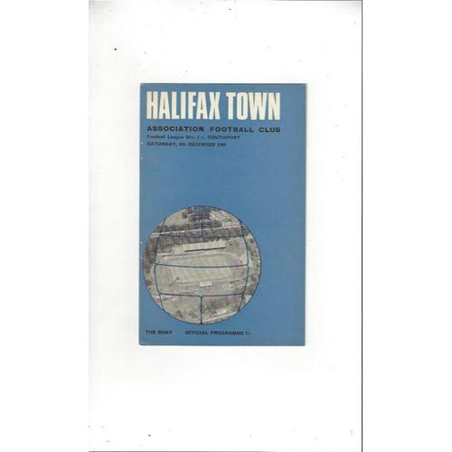 Halifax Town Home Football Programmes
