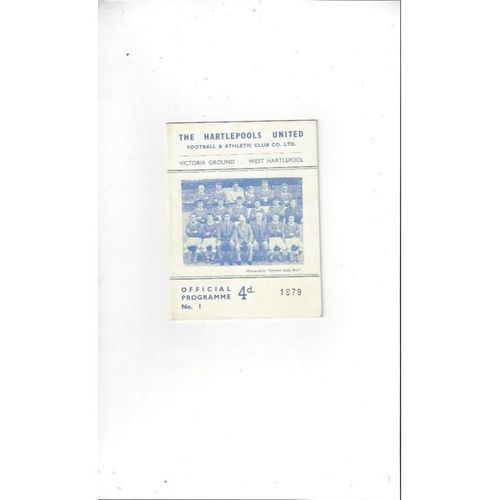 1965/66 Hartlepool United v Southport Football Programme