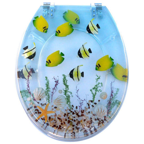 Tropical Fish Tiolet Seat
