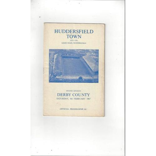 1966/67 Huddersfield Town v Derby County Football Programme + League Review