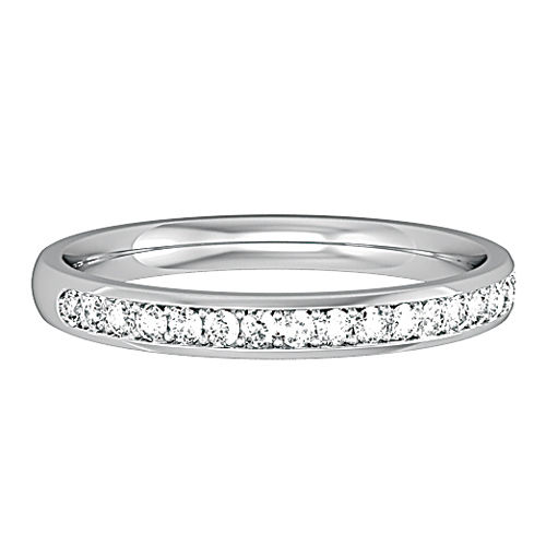 18ct White gold 2.5mm Wedding band