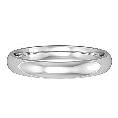 9ct White Gold 3mm Wedding Ring