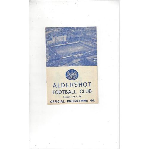1963/64 Aldershot v Barrow Football Programme