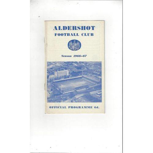 Aldershot v Crewe Alexandra 1966/67 + League Review