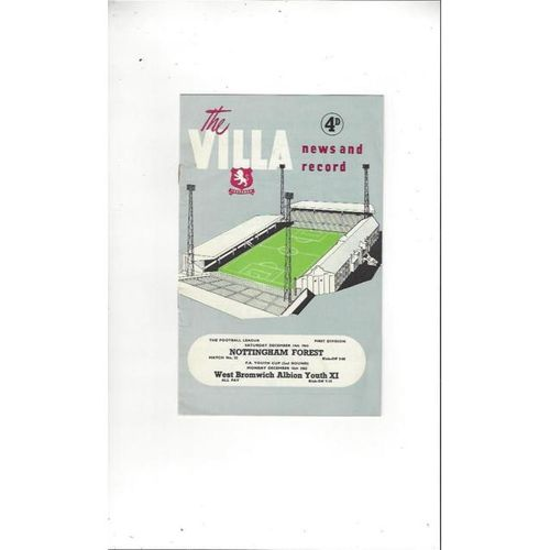 Aston Villa v Nottingham Forest 1963/64