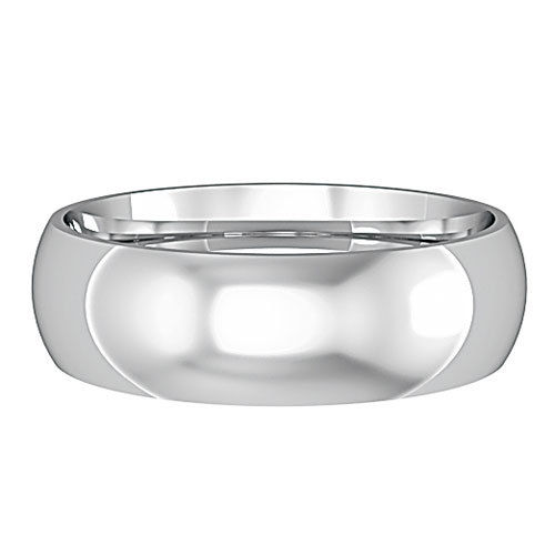 9ct White Gold 6mm Wedding Ring