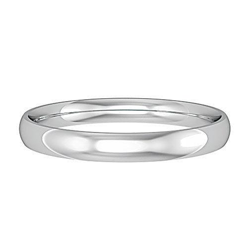 9ct White Gold 2.5mm Wedding Ring