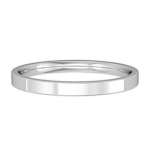 9ct white gold 2mm wedding Ring