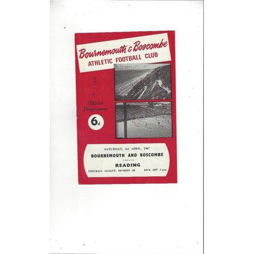 1966/67 Bournemouth v Reading Football Programme
