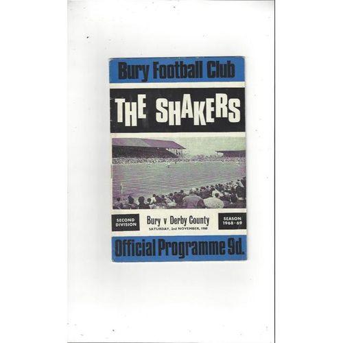 Bury v Derby County 1968/69 + League Review Postponed Nov
