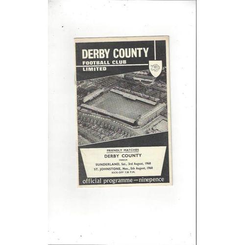 Derby County v Sunderland & St Johnstone Friendly Football Programme 1968/69