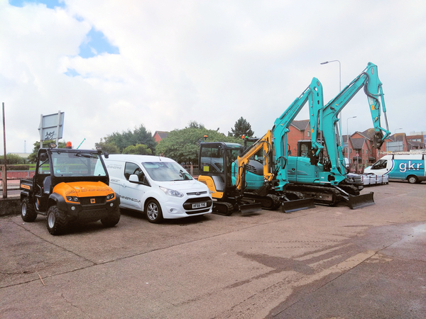 Look at what we've collected today, our very own excavators!