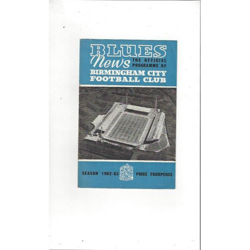 Birmingham City v Notts County League Cup 1962/63