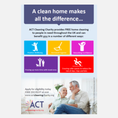A Clean Home Makes All The Diffrance Act Cleaning charity download poster awarness