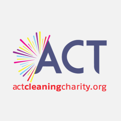 ACT Cleaning Charity Logo download image design burst