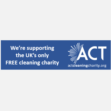Act Cleaning Charity email footer image logo support supporting