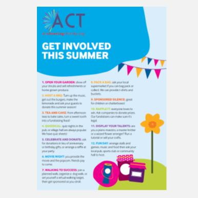 Get involved this summer with act cleaning charity donation fundraising help support