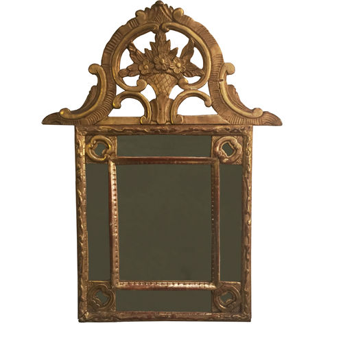 Antique 18th century French wood carved and gilt mirror - £2,500