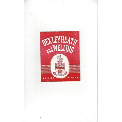 1959/60 Bexleyheath & Welling v Rugby Town Football Programme
