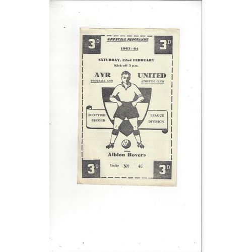 Ayr United v Albion Rovers 1963/64