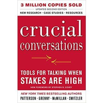 Kerry Patterson, Joseph Grenny, Ron McMillan, and Al Switzler. Crucial Conversations: Tools for Talking When Stakes are High