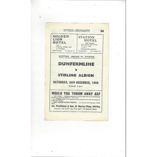 Stirling Albion Football Programmes