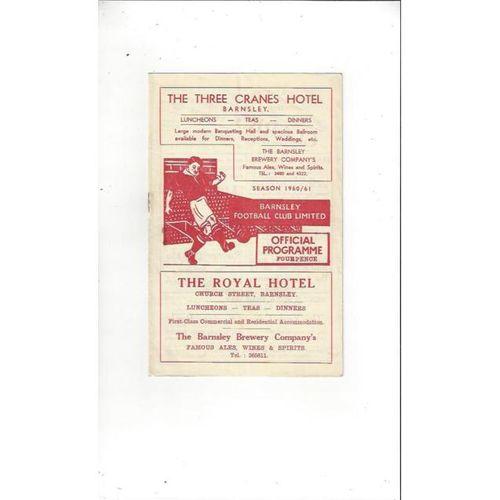1960/61 Barnsley v Torquay United Football Programme