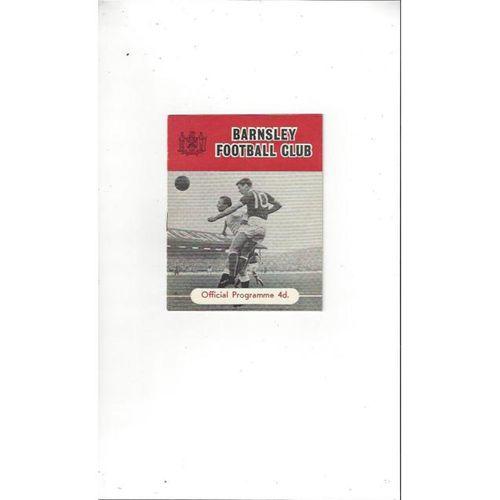 1961/62 Barnsley v Bournemouth Football Programme