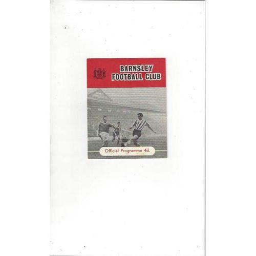 1961/62 Barnsley v Halifax Town Football Programme