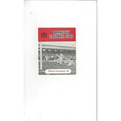 1963/64 Barnsley v Crewe Alexandra Football Programme