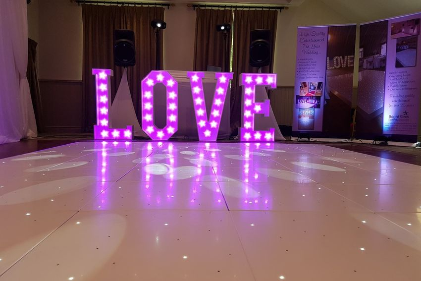 Starlit Dancefloor, Wedding Backdrop, Wedding Entertainment